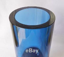 1954 Tapio Wirkkala Signed Iittala Finland Glass Vase 9 Tall Mid Century Modern