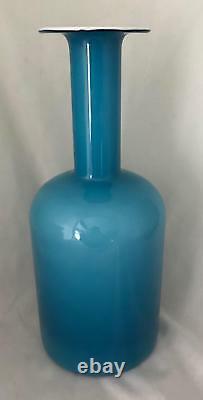 36cm BLUE & OPAL OTTO BRAUER HOLMEGAARD GULVASE MCM DANISH POP ART