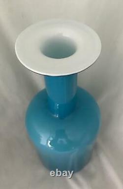 45cm BLUE & OPAL OTTO BRAUER HOLMEGAARD GULVASE MCM DANISH POP ART