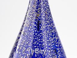A Large Vintage Aldo Nason Cobalt & Foil Glass Vase