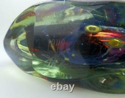 A good Maltese Mdina Art Glass Fish / Axe Head Vase signed Dobson C. 1978