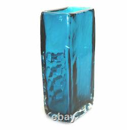 A good Whitefriars kingfisher blue Mobile Phone Vase by Geoffrey Baxter C. 1969