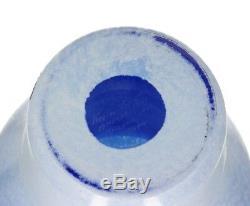 A large Kosta Boda Ulrica Hydman Vallien Open Minds vase Blue & white