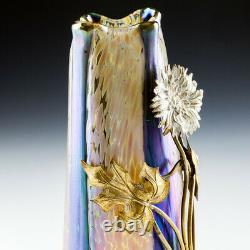 An Ormolu Mounted Loetz Volcano Papillon Vase c1910