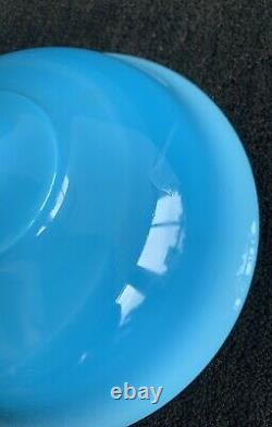 Antique French Blue Opaline Glass Compote