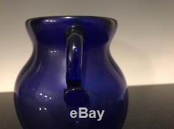 Antique Hand Blown Blue Cobalt Glass Vase