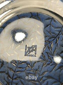 Antique Signed R. Lalique Blue Verrerie dAlsace Vases Pattern Low Bowl or Plate