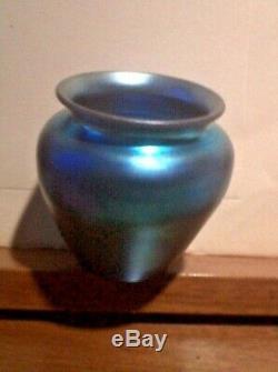 Antique Steuben Blue Aurene Vase RARE SIGNED Steuben Aurene Perfect RARE SALE