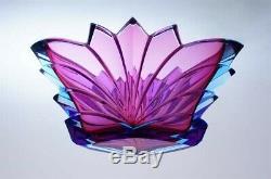 Art Deco Jardiniere Aquamarine Glass