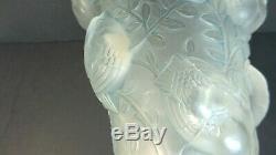 Authentic R. Lalique SAINT FRANCOIS Art Glass Vase, Blue Patina, 1930's