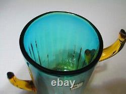 BLENKO CACTUS VASE 8 1/4 Tall, Blown Glass (Artist Trey Gott 1996)