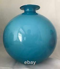 BLUE CARNABY HOLMEGAARD LARGE SIZE 20cm BALL VASE MCM
