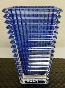 Baccarat 12-in Cobalt Blue Eye Vase Retails $2,050 NewithNo Box(GORGEOUS) SIGNED