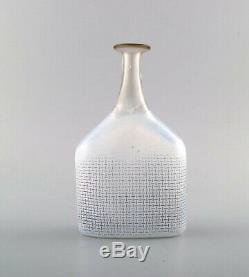 Bertel Vallien for Kosta Boda, Sweden. Vase / bottle, light blue