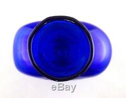 Blenko Art Glass Cobalt Vase 15-1/2 Tall