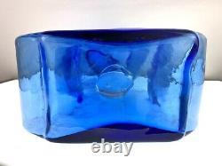 Blenko Glass 9616L Puzzle Vase in Azure