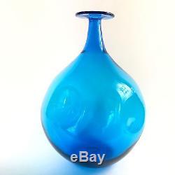 Blenko Joel Myers Bulbous Pinched Glass Bottle #647 Vase 16