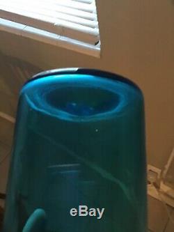 Blue Glass Blenko Vase With Stopper Joel Myers