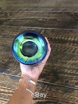 Blue tiffany tel el amarna favrile vase