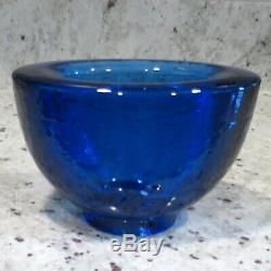 Brand New & Signed COBALT Wide Lipped Vase By Fire & Light