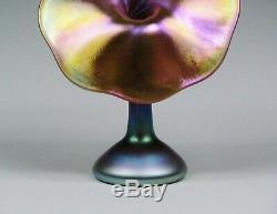 Carl Radke Phoenix Studios Art Glass Jack-in-The-Pulpit Vase