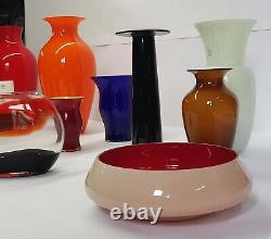 Carlo Nason Murano Stunning Glass Very Large Vase
