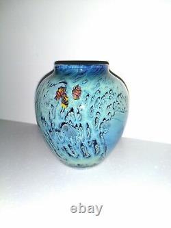 Contemporary Josh Simpson American Art Glass Vase, 1998, Signed