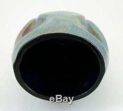 Czech Bohemian Kralik Silberiris Cobalt Blue Art Glass Vase Loetz Type