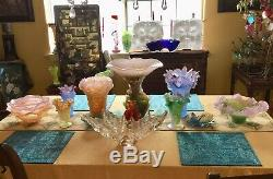 DAUM Pate de Verre Magnum 13T Amethyst Purple Blue ORCHID Crystal Vase Perfect