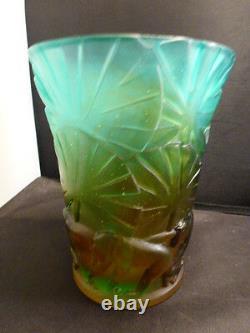 Daum Vase Monkey 6 # 3884 Signed And Numbered Nib
