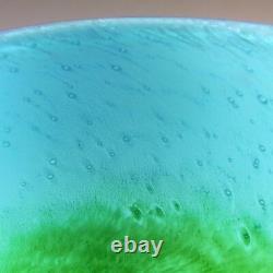 Ekenas Blue + Green Glass Vase Signed John-Orwar Lake