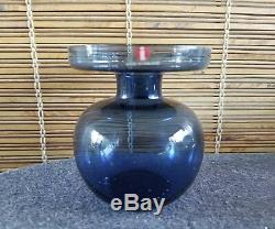Erkki Vesanto iittala Finland Blue Vase RARE