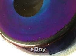 Family Heirloom Frederick Carder Steuben Cobalt Aurene Signed Oil Jar Vase