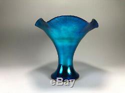 Fantastic STEUBEN Carder era BLUE Aurene Vase Shape No. 723