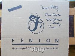 Fenton Art Glass Connoisseur Caribbean Day Vase 8199 B6 #21/750 Dave Fetty Mint