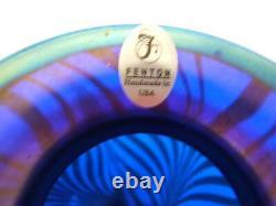 Fenton Cobalt Favrene Vase Limited 1098 of 1250 Signed MIB