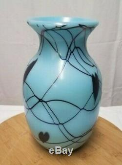 Fenton Glass Robert Barber Dave Fetty Hanging Hearts Vase Limited Edition #486