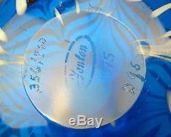 Fenton Robert Barber Collection 0006CV Cascade 1975 Vase White Over Blue 356/700
