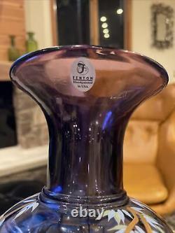 Fenton Studio Art Glass Vase painted Michelle Kibbe Martha Reynolds LE 1150/1250