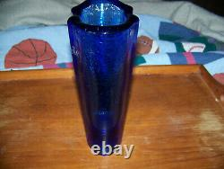Fire And Light Glass Co. Aurora Vase Cobalt Blue SIGNED Recycled Glass