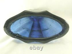 Fire & Light Recycled Glass 9-1/8 Cobalt Blue AURORA Vase Free US Shipping