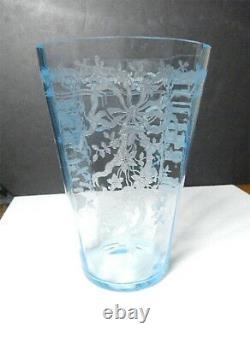 Fostoria JUNE BLUE 8 Tall Vase, Rare