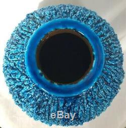GUNNAR NYLUND LARGEST CHAMOTTE Turquoise Blue Stoneware Vase RORSTRAND SWEDEN