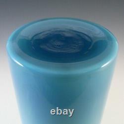 Holmegaard Blue Opal Cased Glass Gulvvase Vase by Otto Brauer