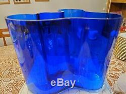 Iittala Aalto collector Cobalt blue vase 160mm made in Finland