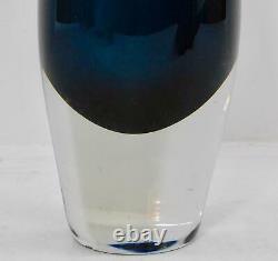 Iittala Finland Tapio Wirkkala Smokey Blue Fish Bladder Kalanrakko Vase 3299