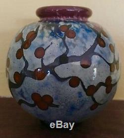 John Nygren Cherry Blossom Studio Glass Vase