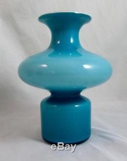 Kastrup-Holmegaard 16.5cm Carnaby Bulge Vase in Blue & Opal