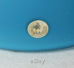 Kastrup Holmegaard Otto Brauer Blue and White Encased Gul Vase 45. Cms