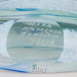 Kosta Boda Artist Collection Galaxy Blue B. Vallien Art Glass Bottle Vase Signed